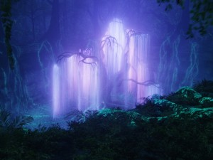 """The """"tree of souls"""" glows the most purple when it glows in the dark. Or something... (Image source: http://www.fanpop.com/clubs/avatar/images/18906635/title/tree-souls-wallpaper)"""